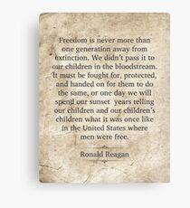 Ronald Reagan Quote Canvas Print
