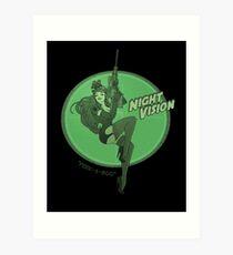 Night Vision Pin Up Art Print