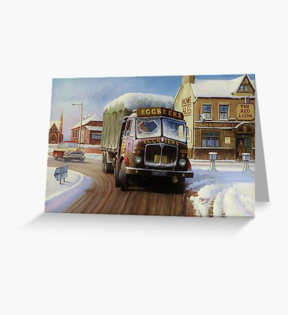 Eggbeer's AEC Tinfront. Greeting Card