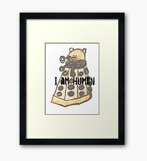 I Am Human Framed Print