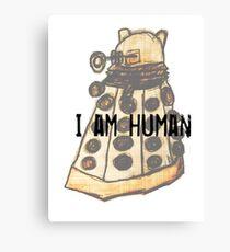 I Am Human Canvas Print