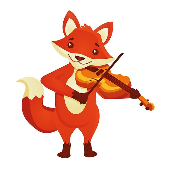 Quot Funny Fox Playing Music With Violin Quot Poster By Berlinrob