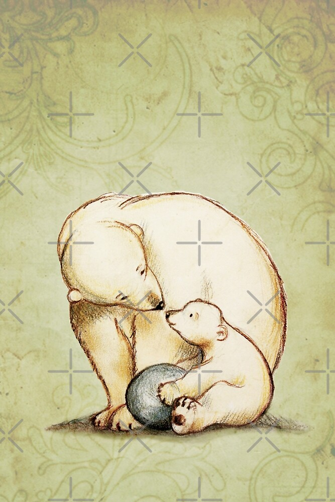 Mother and Cub by Sarah  Mac Illustration