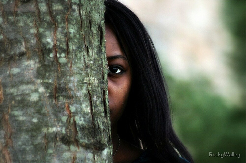 Girl Behind the Tree by RockyWalley