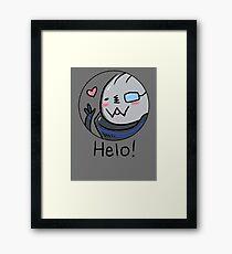Garr-Bear Says Helo Framed Print
