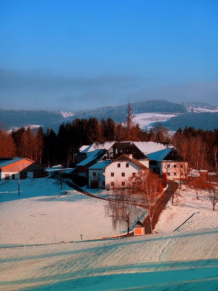 Village scenery in winter wonderland II | landscape photography by Patrick Jobst