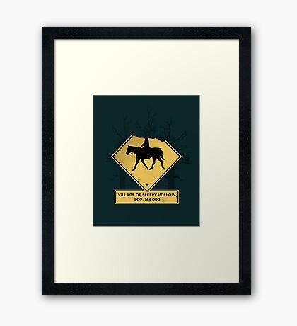 Headless Horseman Sign Framed Print