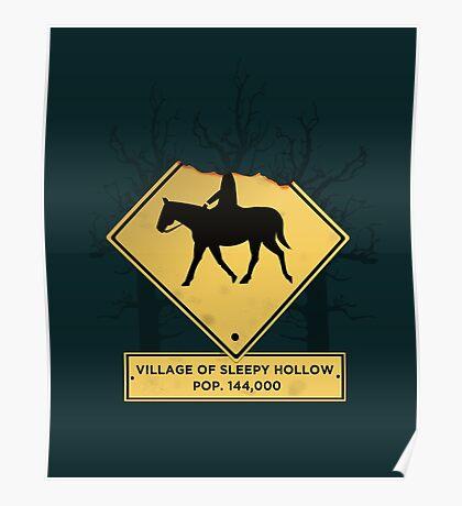 Headless Horseman Sign Poster