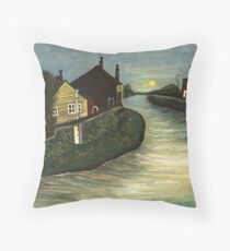 Living By The Water Throw Pillow