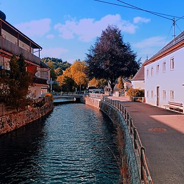The river through the village center | waterscape photography by patrickjobst