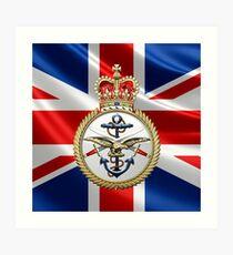 British Armed Forces Emblem 3D Art Print