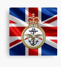 British Armed Forces Emblem 3D Canvas Print