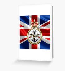 British Armed Forces Emblem 3D Greeting Card