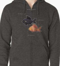 Anatomy of a Goldfish Zipped Hoodie