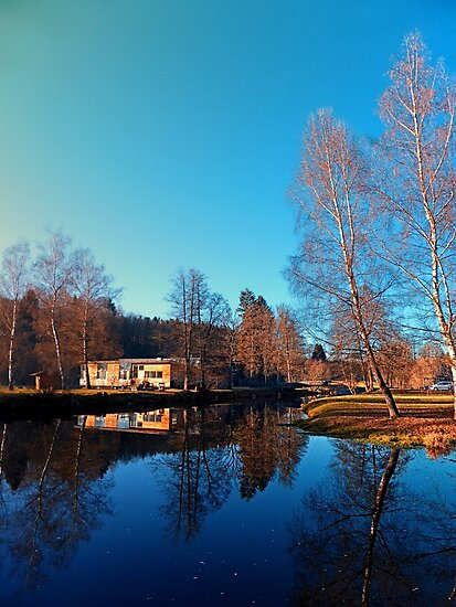 Winter mood on the river II   waterscape photography by Patrick Jobst