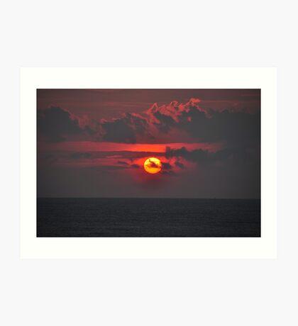 Sunset time Art Print