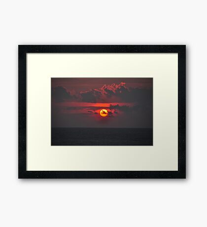 Sunset time Framed Print