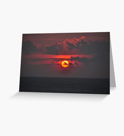 Sunset time Greeting Card