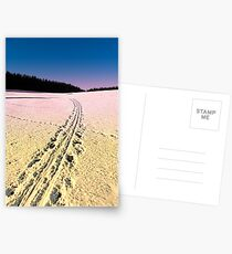 Cross country skiing | winter wonderland | landscape photography Postcards