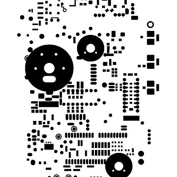 Motherboard Face - Black on White by TheFrisby