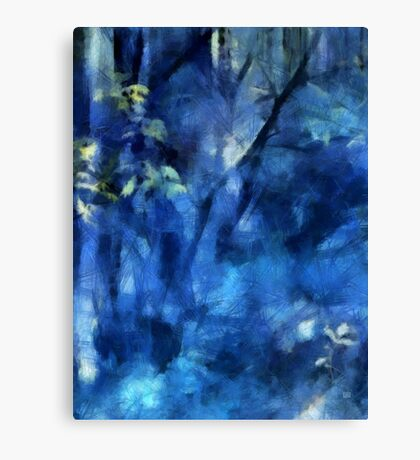 Deep In The Blue Forest Canvas Print