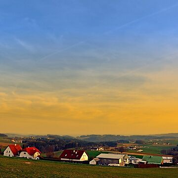 Sunset, the village and panorama | landscape photography by patrickjobst