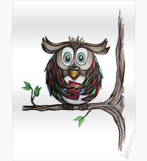 Crazy Owl - Bookworm Poster