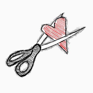 Scissors+heart= by SaidtheRedBear