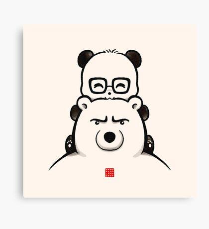 Panda And Polar Bear Canvas Print