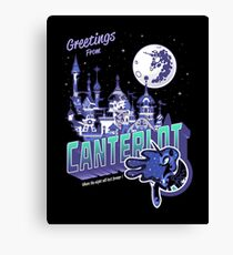 Greetings from Canterlot - Variant Canvas Print
