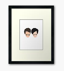 Phil Lester and Dan Howell (without text) Gerahmtes Wandbild