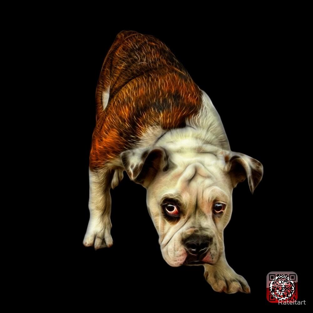 English Bulldog Dog Art - 1368 - BB by Rateitart