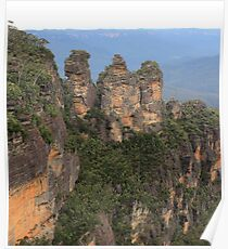 Three Sisters Blue Mountains Poster