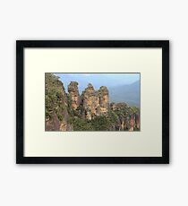 Three Sisters Blue Mountains Framed Print