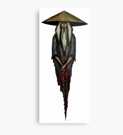 Chinese Monk surreal drawing Metal Print