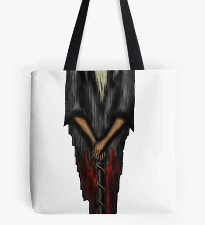 Chinese Monk surreal drawing Tote Bag