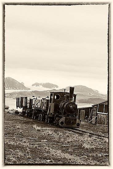 Vintage coal train by Marylou Badeaux