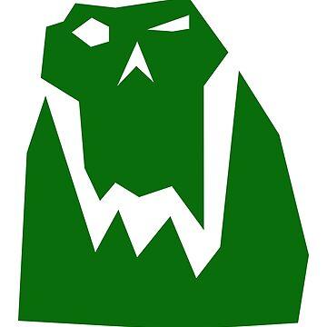 Orc head (Green) by Khyrgrim