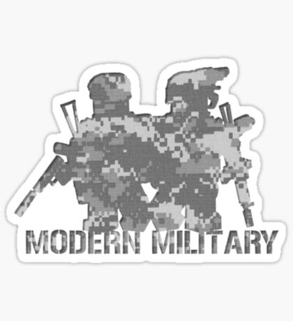 Modern Military digital camo 2 Sticker