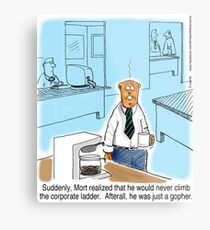 Just a Gopher - climb the corporate ladder? Metal Print