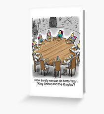 Far side greeting cards redbubble king arthur and the knights of the round table greeting card bookmarktalkfo Images