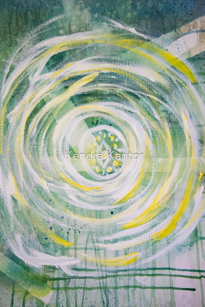 Abstract Sun Mandala von Kendra Kantor