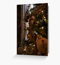 holiday tree and window Greeting Card