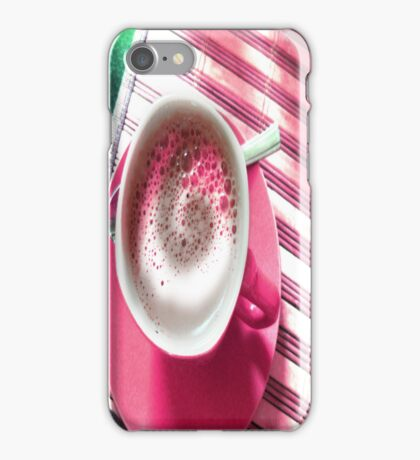 COFFEE IN PINK. iPhone Case/Skin