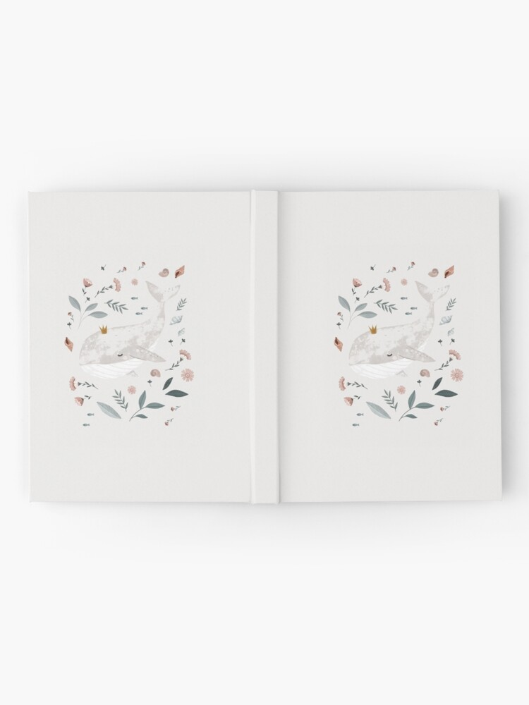 Alternate view of whale Hardcover Journal