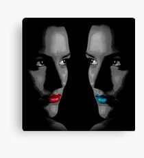 Hot & Cold (black and white/selective color) Canvas Print
