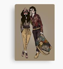 Dollhouse Couple Canvas Print