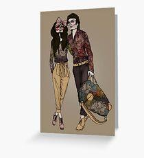 Dollhouse Couple Greeting Card