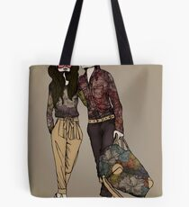 Dollhouse Couple Tote Bag