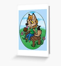 Summertime Treat - Coyote with Ice Cream Greeting Card